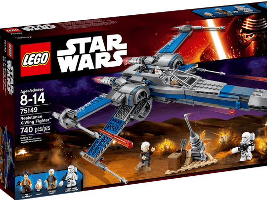"The LEGO ""Star Wars"" Resistance X-Wing Fighter."