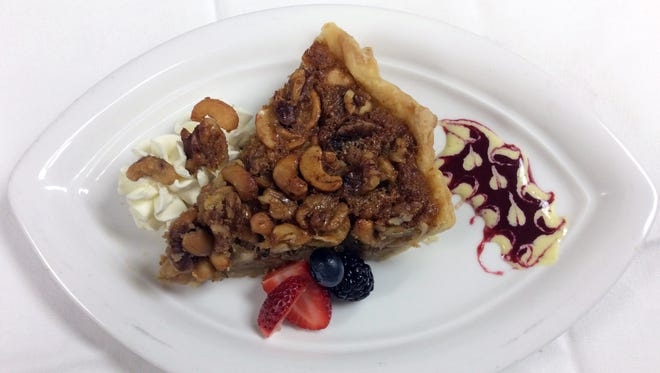 Lagniappe Brasserie's Walnut and Cashew Pie avoids the usual corn syrup in the filling.