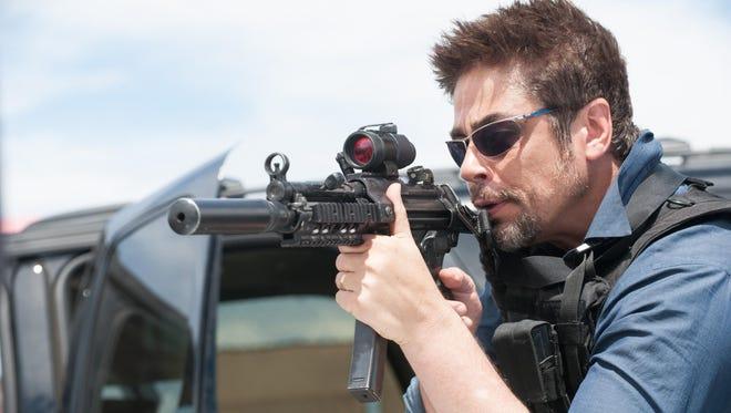 """Benicio Del Toro is Alejandro, a mysterious operative, in """"Sicario."""""""