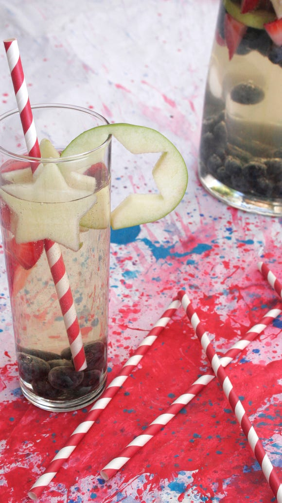 Stars and stripes sangria.