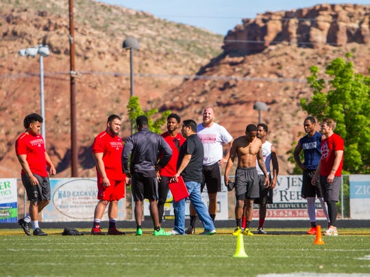 Southern Utah and Dixie State football players receive