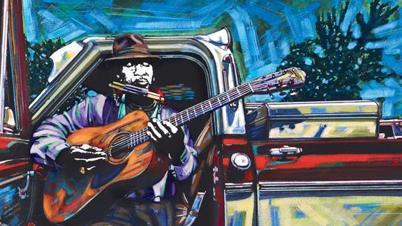 """Terry """"Harmonica"""" Bean is among the 30 blues artists captured in H.C. Porter's """"Blues @ Home: Mississippi's Living Blues Legends."""""""