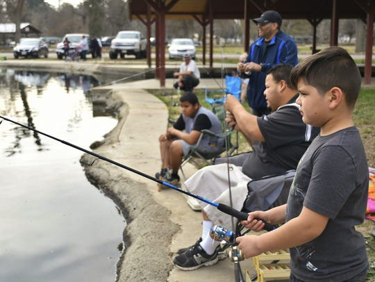 Adrian Espinoza and his family went fishing at  Mooney