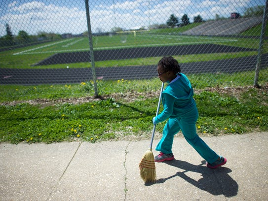 Kailah Johnson, 5, a pre-k student home from school
