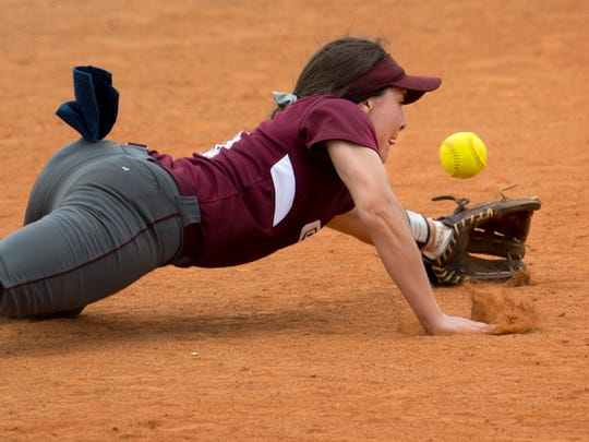 Henderson County shortstop Sophie Margelot and quite