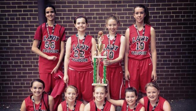 The Lady Xplosion 7th grade team.