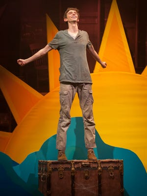 "Seth Clayton as the boy who becomes known as Peter in ""Peter and the Starcatcher"" at Actors Theatre of Louisville."