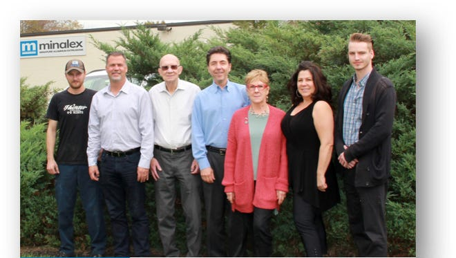 From left: Rob, Chris, Jim, Michael, Bobbi, Vicki and Joe of the family-owned and -founded Minalex Corporation.