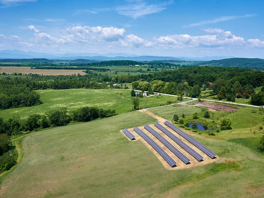 A 150kW community solar array developed in SunCommon'