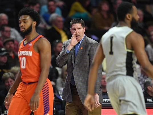 Clemson Wake Forest Basketball