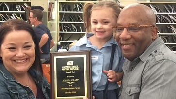WATCH: Little letter carrier honored in Sewell