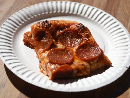 The Sicilian slice at pizza Lodi Pizza