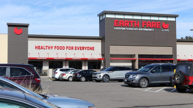Earth Fare, at The Venue in Belden, closed earlier this year, but investors said they plan to reopen the store in Plain Township later this year. The photo is from Feb. 3 when the chain announced plans to close.