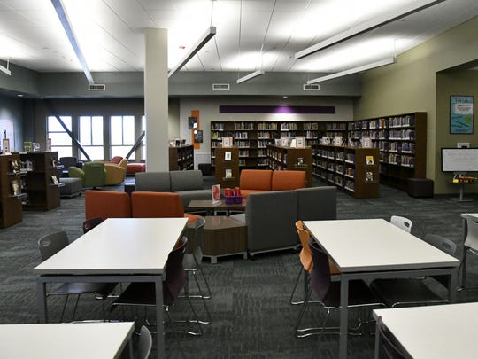 The 21st-century learning library at Ridgeview Middle