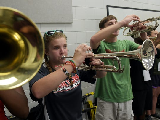 Clinton High School band member Mariah Atwood, 15,