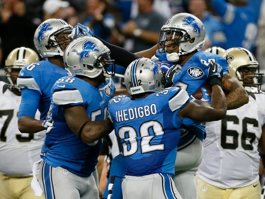 Detroit Lions free safety Glover Quin.