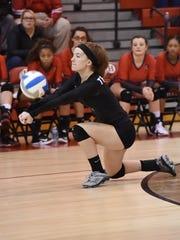 Coming through with a defensive dig for Clarenceville