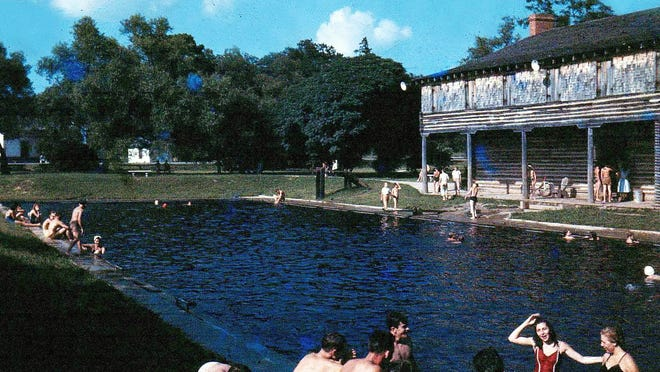 The late Dean W. Fuller snapped this photo using Kodachrome, likely in the late 1940s, of the Fuller Park pool.