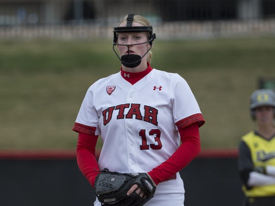 Utah pitcher Katie Donovan, from South Salem High School.