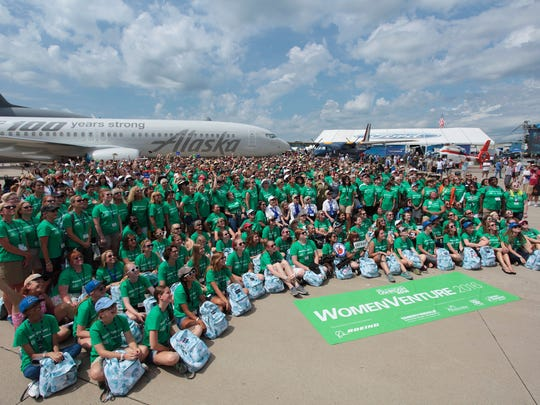 The assembled group participating in EAA's WomenVenture