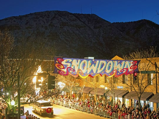 Snowdown takes places the first weekend in February and offers a variety of events.