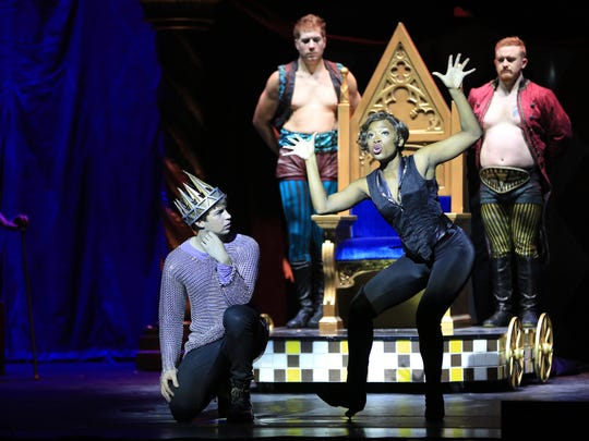 Members of the 'Pippin' cast during a recent show.