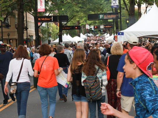 Belk Fall for Greenville presented by Pepsi turns 35 this year and returns to downtown Greenville with signature tastes from over 40 different food vendors Saturday  October 15, 2016