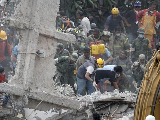EPA MEXICO EARTHQUAKE DIS EARTHQUAKE M…X ME