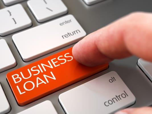 Business Loan on Keyboard Key Concept.