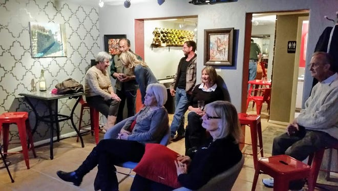 The back room of Tall Pines Wine and Beer Garden can be closed off and rented for private parties with its own bartender or the entire venue can be rented for private functions.