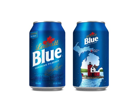 Mackinac Island is featured on cans of Labatt Blue