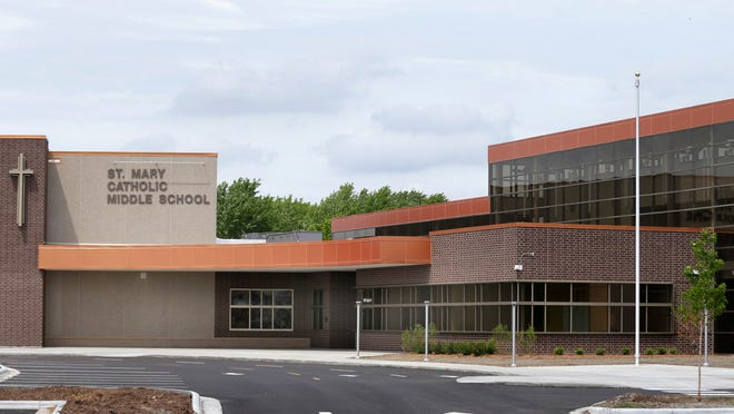 St. Mary Catholic Middle School was dedicated in a ceremony earlier this week. The newly built school will replace Seton Middle School when the 2015-16 school year opens in the fall.