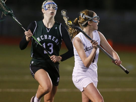 Senior Caroline Donovan (13) is a returning All-Stater and one of the top players for fourth-ranked Archmere.