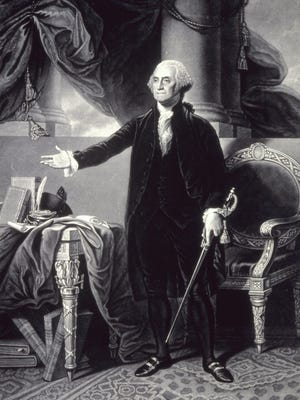 This is an undated photo illustration of President George Washington from the Library of Congress.