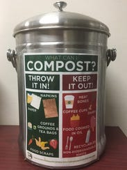 Start a compost bin at home or at work.