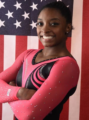 Simone Biles says her goal is to make the Olympic team for Rio.