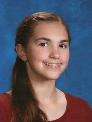 Cassandra Leach,  Grade 8, Millstone Twp. Middle School,