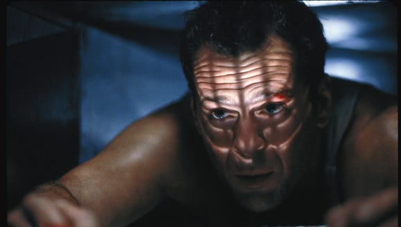 Bruce Willis vented in 'Die Hard.'
