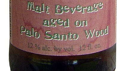 Dogfish Head's Palo Santo Marron has 12 percent ABV.