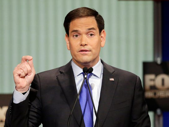 Sen. Marco Rubio, R-Fla., speaks during the Fox Business