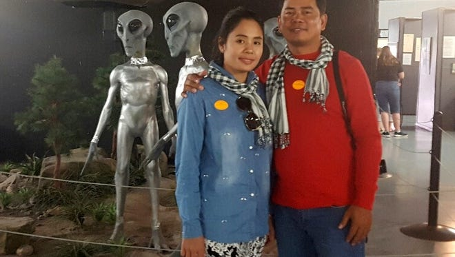 Kim and Kao Virak will have a few odd stories to tell about their stop at the UFO museum in Roswell.