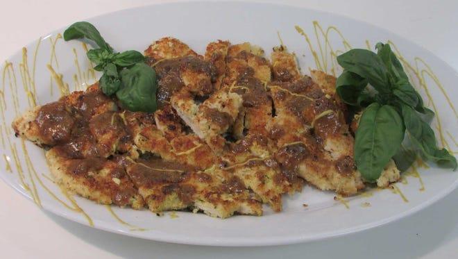 Panko-crusted Chicken with Mustard-maple Pan Sauce