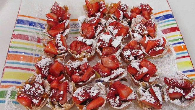 Phyllo Tartlets with Chocolate & Summer Berries