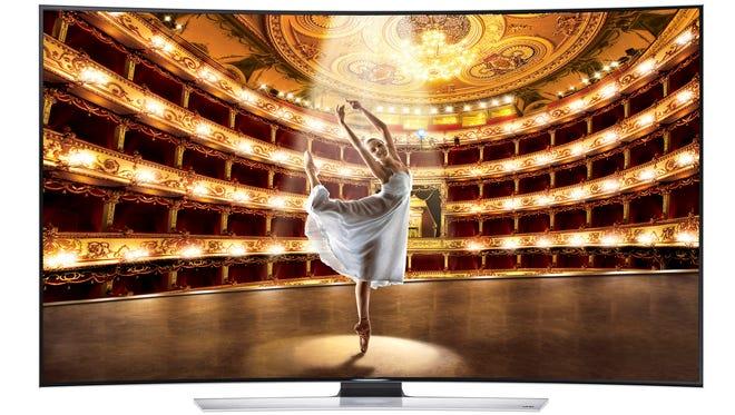 Samsung's HU9000 Curved Ultra HD TV.
