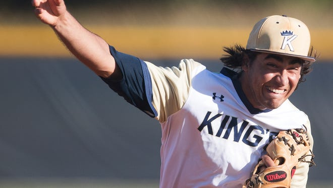Southwest Florida Christian Academy's Max Rippl pitches recently against Canterbury at SFCA in Fort Myers.