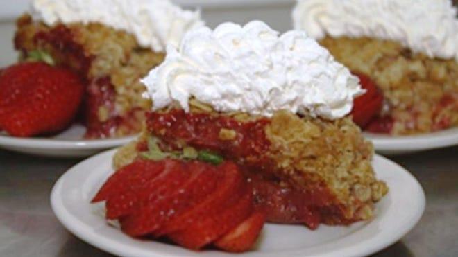 Strawberry-Rhubarb Crisp recipe from chef Eric Stritt of the Baptist Home in Rhinebeck.