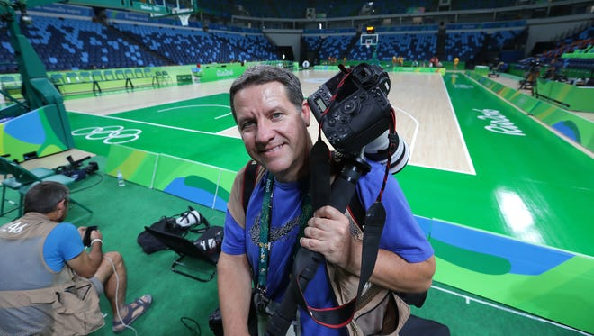 Dan Powers, seen here covering the 2016 Summer Olympics in Rio de Janeiro, Brazil, will be part of the USA TODAY Sports photo team at the Winter Olympics in South Korea.