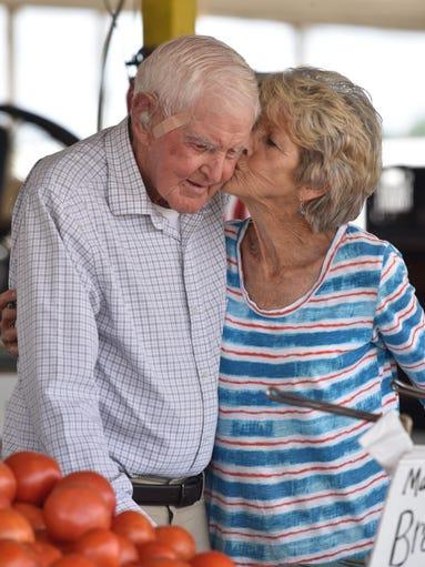 Brenda Langham kisses her father, Herman Cockrell,