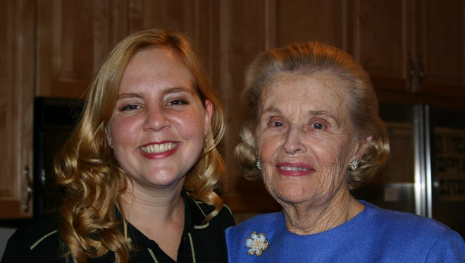 Allison Burris Castellanos inherited a desire to help others from her late grandmother, Lillian Burris. They participated in a 2004 fundraiser for La Red Health Center.