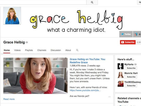 Grace Helbig posts three videos a week on YouTube.